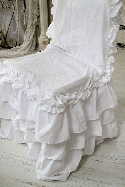 shabby chic slipcovers for loveseats | The chair I have this on is very shabby underneath so if you see ...