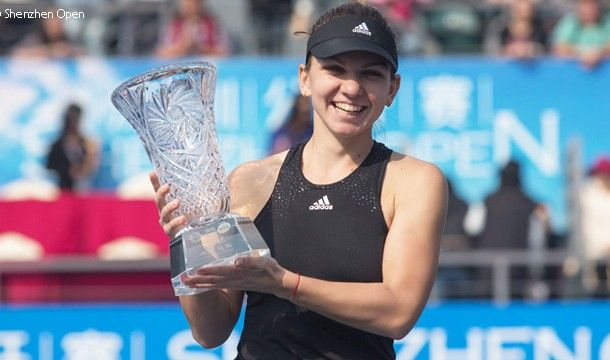 Jucatoarea de tenis Simona Halep, locul 3 WTA si cap de serie numarul unu, a castigat turneul de la Shenzhen (China), cu premii in valoare de 500.000 de dolari.