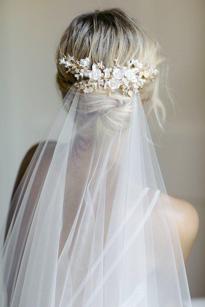 42 Dreamy Wedding Hairstyles With Veil Wedding Forward In 2020 Headpiece Wedding Wedding Hairstyles With Veil Bridal Hair Accessories