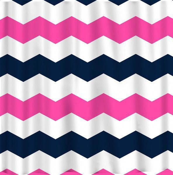 Chevron Extra Wide 6 Inch Stripes Chevron Shower Curtain Custom