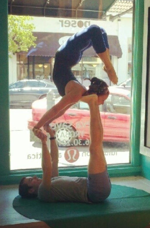 Looks like it would be easy to get into from Star pose. Picture from Jeremy Simon Acroyoga instructor.