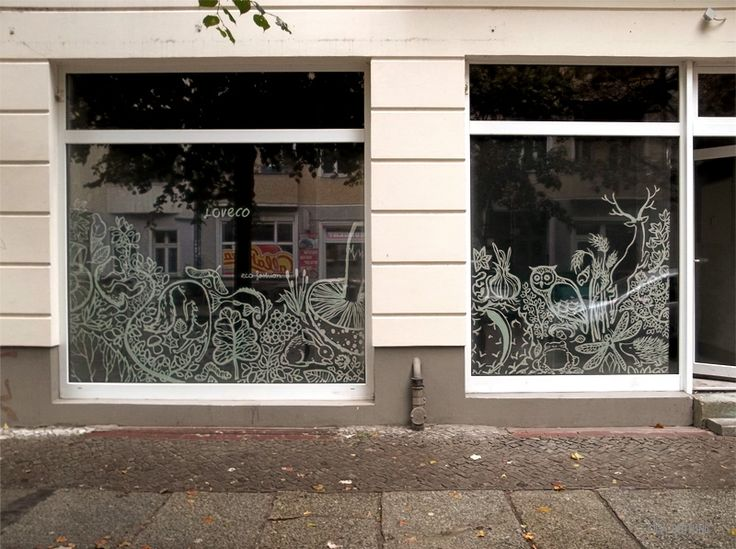 Illustrated window display I did for the upcoming shop Loveco in Berlin. Currently the shop is being reconstructed, so an opaque film keeps the construction work out of sight while the illustration catches the eye.