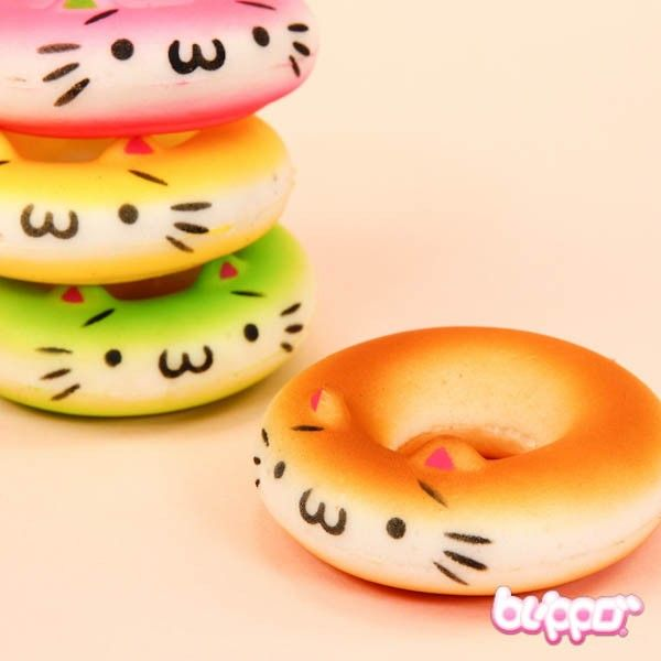 Squishy Donuts Kawaii : Squishy Neko Donut Charm Kawaii & Cute Pinterest Donuts, Kawaii and Plushies