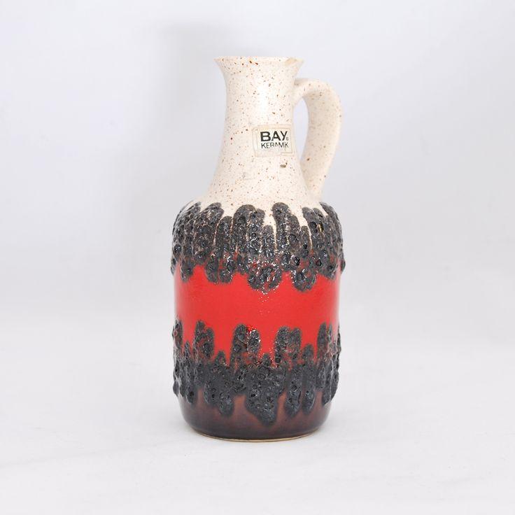 #vintage #vintageshop #vintagefinds #midcentury #midcenturymodern #design #forsale #vase #westgermany #bay #keramik #fatlava