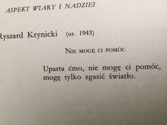 Ryszard Krynicki - Nie mogę ci pomóc