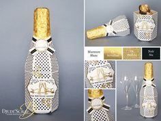 Djudi'Scrap Stampin'Up! - Une bouteille de champagne en papier en scrap et Tutoriel