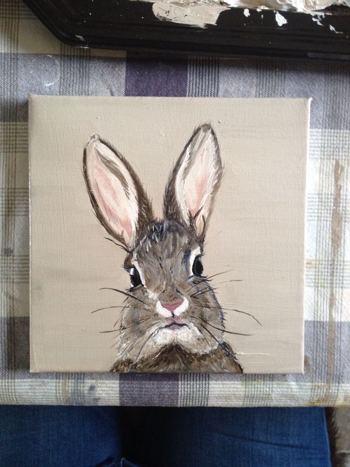 Rabbit#oil on canvas# by Sofie Van Daele