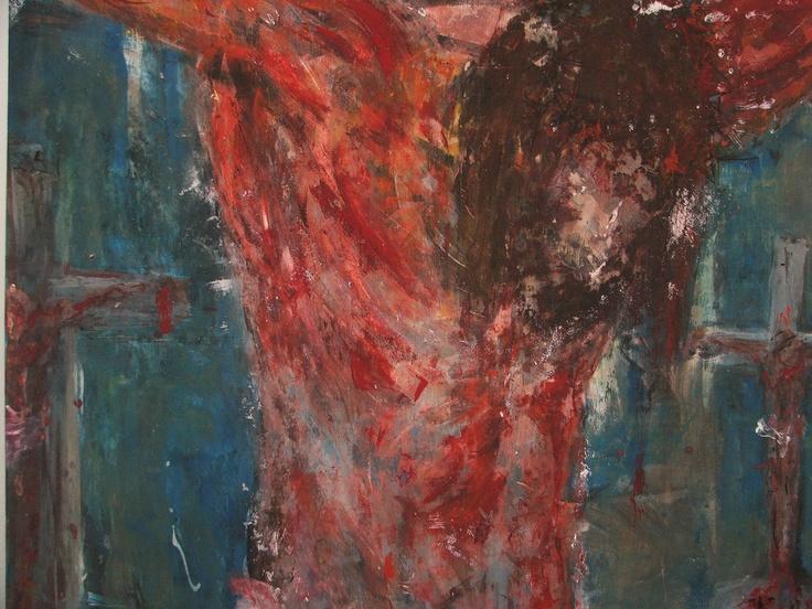 Jesus  2004  100*100  Tempera on wood