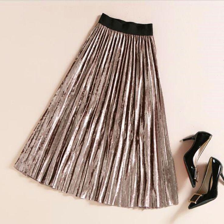 Длинные юбки плиссированные купить