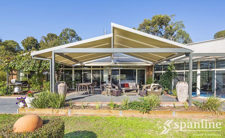 Don't move - Improve.  Skillion roof profile by Spanline Australia.