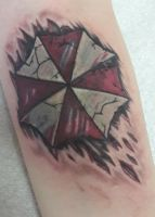 Umbrella Corp Tattoo by albertweskerswife