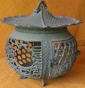 Antique Japanese Taisho P. Bronze Garden Lantern