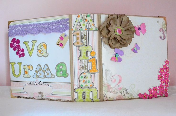 Album for Miriam, a 4yo girl who loves white, pink, lilla and butterflies