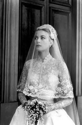 Grace Kelly on her Wedding Day 1956.
