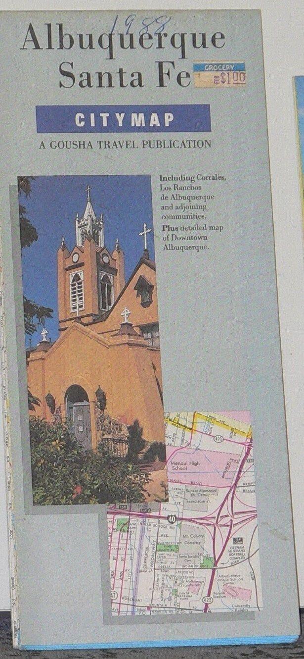 1988 Gousha City Map ,of Albuquerque & Santa Fe. https://www.google.co.uk/search?q=1988+Gousha+City+Map+,of+Albuquerque+%26+Santa+Fe&biw=1366&bih=622&source=lnms&tbm=isch&sa=X&ei=hOsOVZKPLMK5UcrSgPgK&ved=0CAYQ_AUoAQ