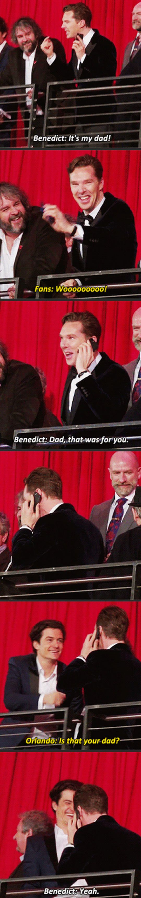 Bennedict and his dad…Why do I love this so much?! Orlando makes this that much better :)