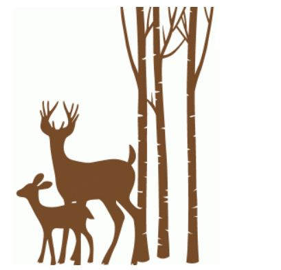deer son trees by sophie gallo #71287