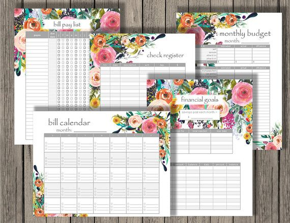 Budget Planner printable set personlized by ChaosMadeSimple