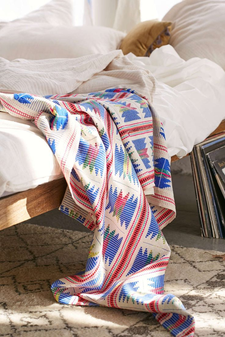 Embroidered Baja Throw Blanket - Urban Outfitters Home Goods Pinterest Blanket, Urban and ...