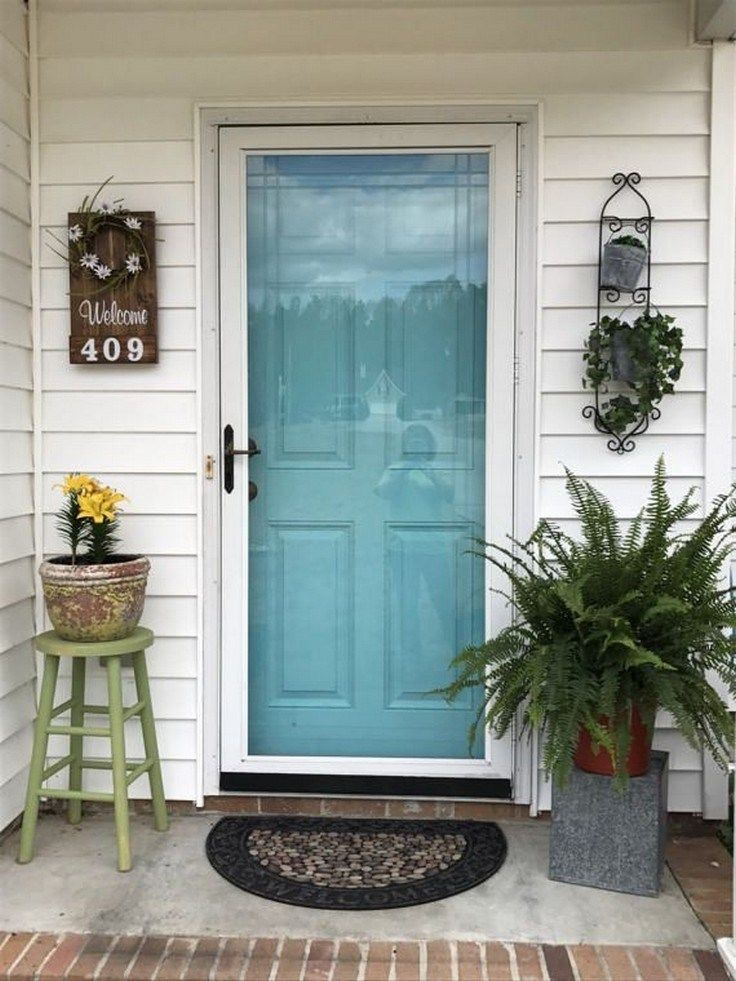60 Farmhouse Front Door Entrance Design Ideas Tips On Selecting Your Front Doors Page Front Porch Decorating Rustic House Numbers Farmhouse Front Porches