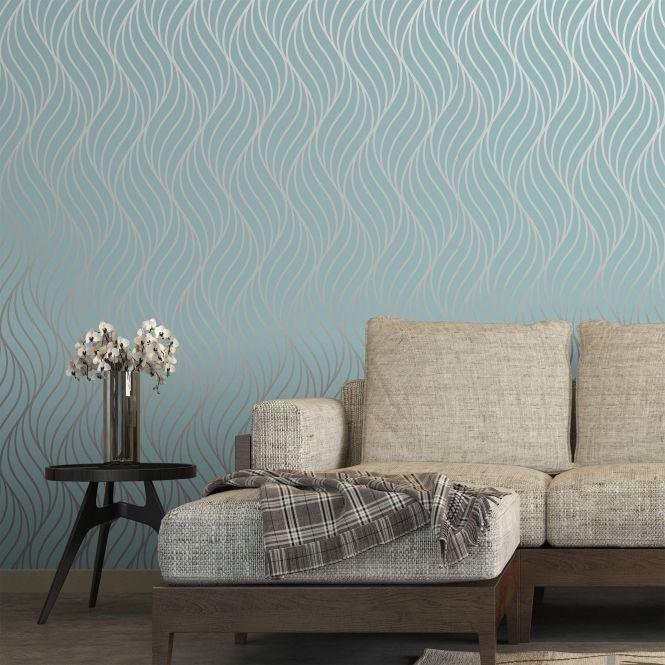 Shimmer Indulge Wallpaper Teal Silver 50031 In 2020 Teal Wallpaper Living Room Teal Living Rooms Teal Wallpaper