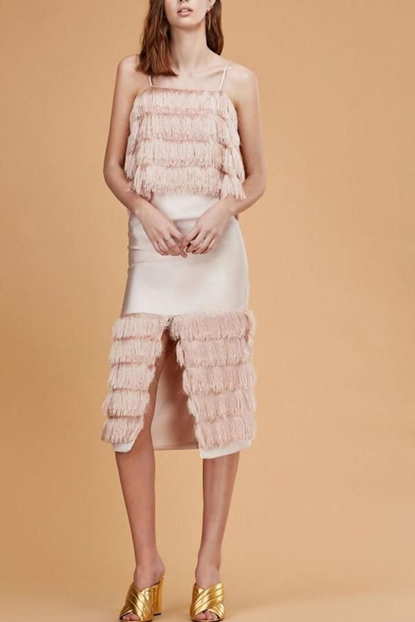 C/MEO COLLECTIVE Fringed Top