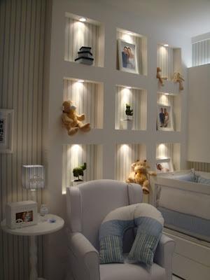 Iluminação para Estante de quarto de bebe