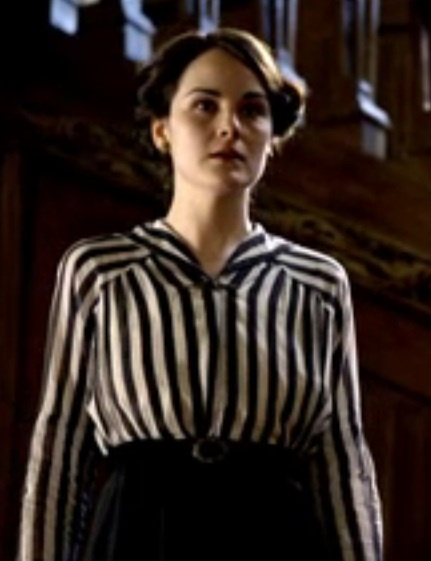 Lady Mary's striped blouse from Masterpiece's Downton Abbey