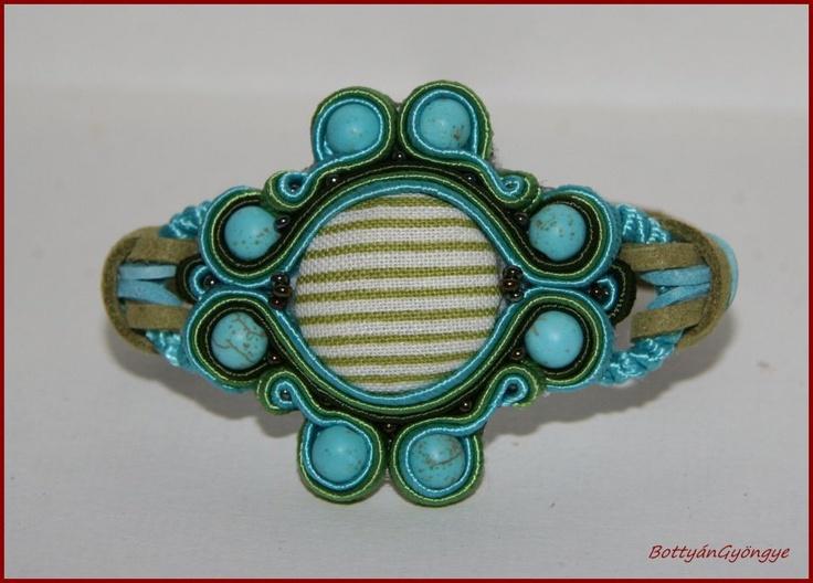 Sujtás, türkiz köves karkötő by http://www.breslo.hu/bottyangyongye/shop