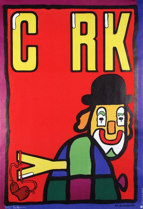 Clown z proca  Original Polish cyrk poster  designer: Jan Mlodozeniec  year: 1974/79