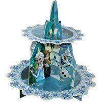 La reina de hielo congelado Disney trae soporte panecillo magdalena niños del cumpleaños