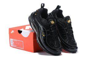 4a7f0d0c87d9 Mens Womens Shoes Nike Air Max 98 Black Yellow 640744 080
