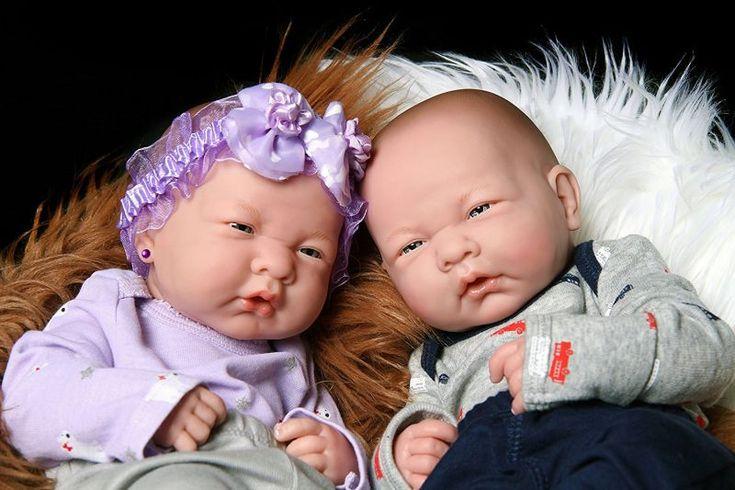Realistic Reborn cute babies twins boy and girl