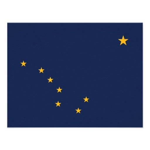 Alaska's Flag Personalized Invitation