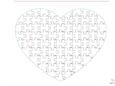 Delightful Template For Our 76 And 108 Piece Heart Puzzle With Hints And Tips    480x360