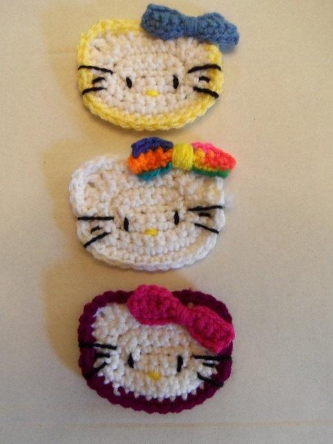 Hello Kitty Crochet Applique. $10.00, via Etsy.