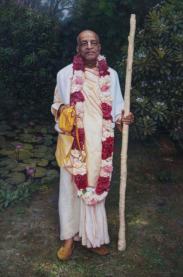 Srila Prabhupada Canvas Print / Canvas Art by Satchitananda das Saccidananda das