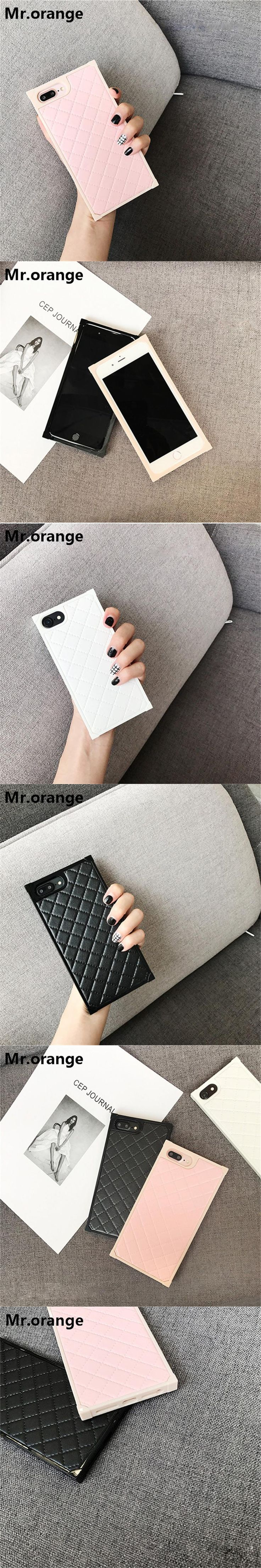 Mr.orange Phone Case For iPhone 6 6S 7 8 plus Case Luxury Women Diamond PU Phone Case Bag Cover Housing Sheepskin PU Cases HOT