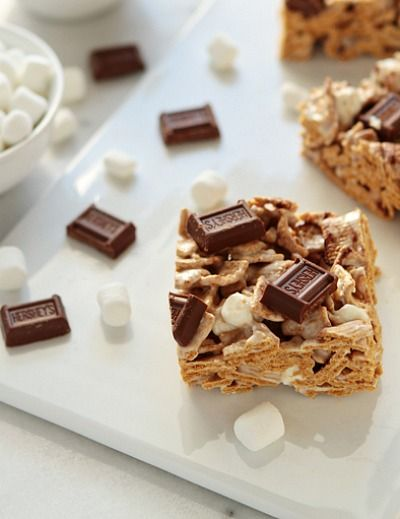 Add some Golden Grahams to your S'more squares for a crumbly and delicious surprise!