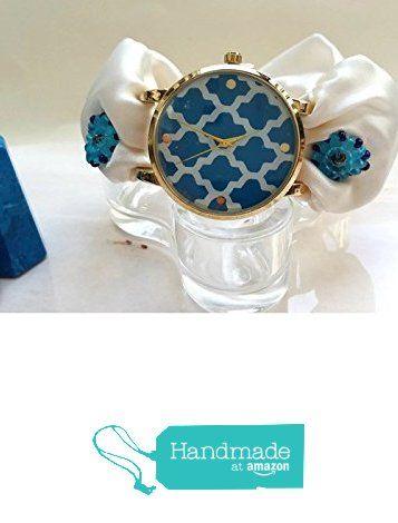 Orologio da Polso Donna Stile Nautico bianco e blu Moda marinaresca da HarmonyHourWatches https://www.amazon.it/dp/B01LZ0LMF3/ref=hnd_sw_r_pi_dp_uW07xbMVJMTVA #handmadeatamazon
