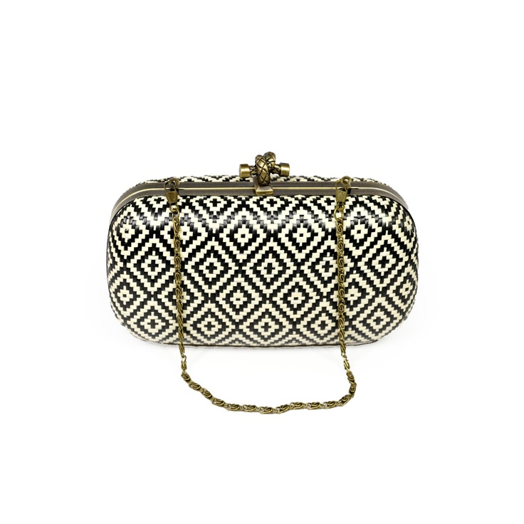 Little Black Bag | Straw Pattern Minaudiere by Miztique :)