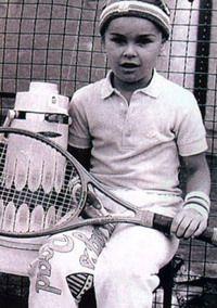 Legend Martina Hingis as a little tennis player