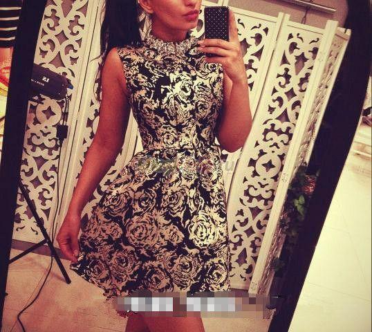 Дешевое Сексуальное платье 2014 новинка лето старинные розы пуховкой жилет тяжелая алмаз элегантное платье нарядное платье, Купить Качество Платья непосредственно из китайских фирмах-поставщиках:     &n