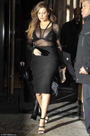 Khloe Kardashian wearing Saint Laurent Monogramme Shoulder Bag and ...