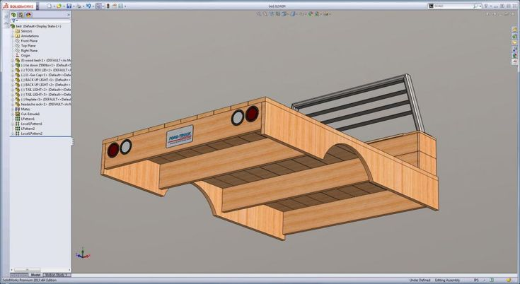 WOOD FLATBED BUILD - 3D MODEL AND CONSTRUCTION PLANS - Ford Truck Enthusiasts Forums