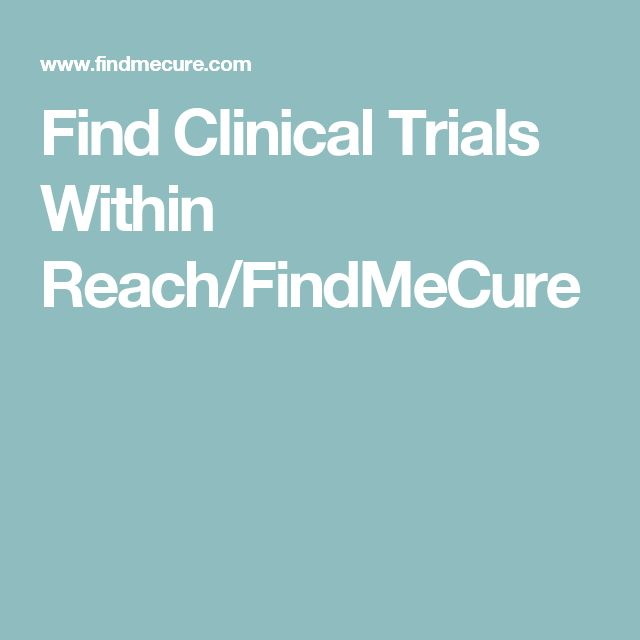 Find Clinical Trials Within Reach/FindMeCure