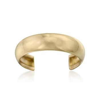 Ross-Simons - 14kt Yellow Gold Wide Adjustable Toe Ring - #248860