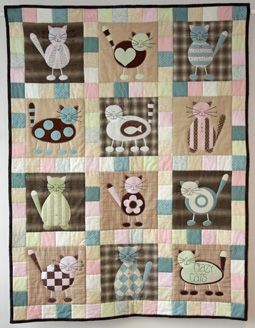 146 best cats images on Pinterest | Crafts, At home and Dogs : free cat quilt patterns download - Adamdwight.com