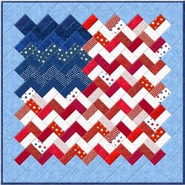 Free Pattern Yankee Doodle Zigzag Flag Quilt