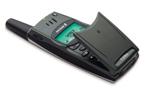 Ericsson T28s...  Announced: 1999  . Ultra Slim, Perfect design. My Favorite  i have one now ;)